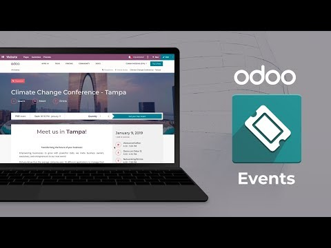 Odoo Events - Create events that resonate with your audience