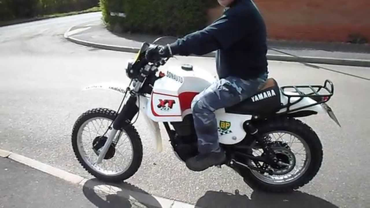 Tilting Motor Works >> Tommy's XT500 Dakar replica - YouTube