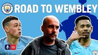All Man City's 19 GOALS on route to the FA Cup Semi-Final!   Manchester City's Road to Wembley