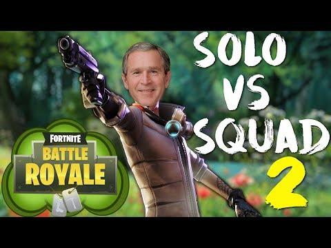SOLO vs SQUAD #2 | Legendary Bush Man (Fortnite Battle Royale)