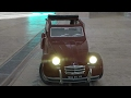 Modding of an Citroën 2CV (Ente), driving, steering, blinking, lights...