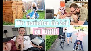 Baby will nicht schlafen! 😴 | Familien Abend & Fahrradtour | Hula Hoop | Isabeau