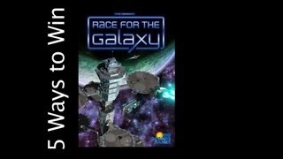 5 Ways to Win: Race For The Galaxy