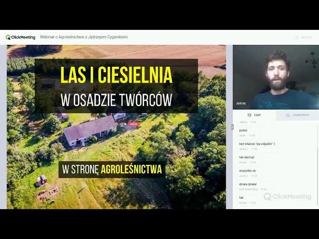 Agroleśnictwo, Las i Ciesielnia z Jędrzejem Cyganikiem [Cohabitat Webinar]