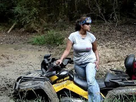 photo of fat nude girls on a atv