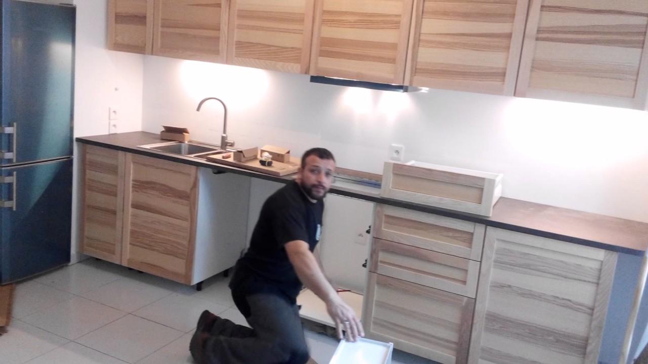 la pose de cuisine chez juan ( ikea metode ) - youtube