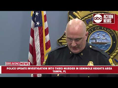 Tampa Police update investigation into third homicide in Seminole Heights area in 10 days.
