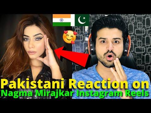 Pakistani React on Nagma Mirajkar Latest Instagram Reels Videos | Nawez TikTok | Reaction Vlogger