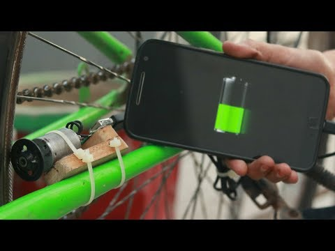 How To Charging Mobile Using Bicycle   Free Energy
