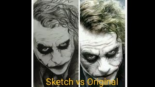 The Joker(DC Universe) how to draw Joker with graphite and charcoal pencil with simple tricks