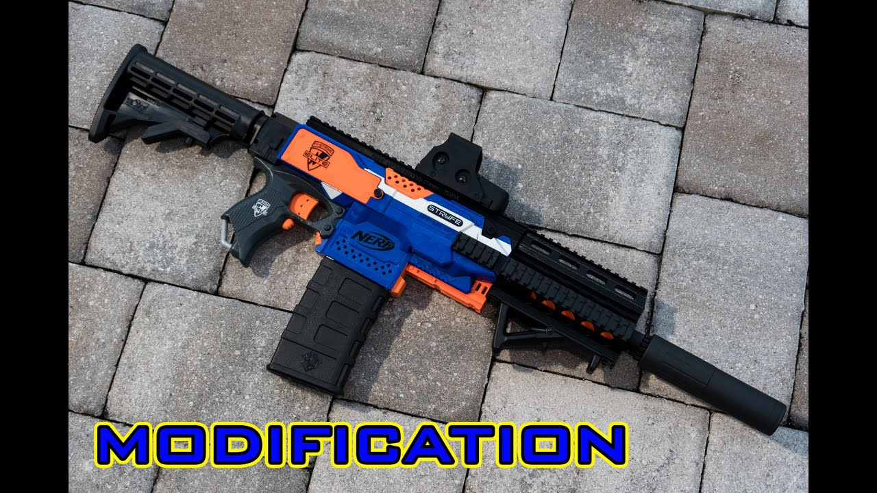 [MOD] Nerf Stryfe M4 M16 3D Printed Parts Kit Worker F