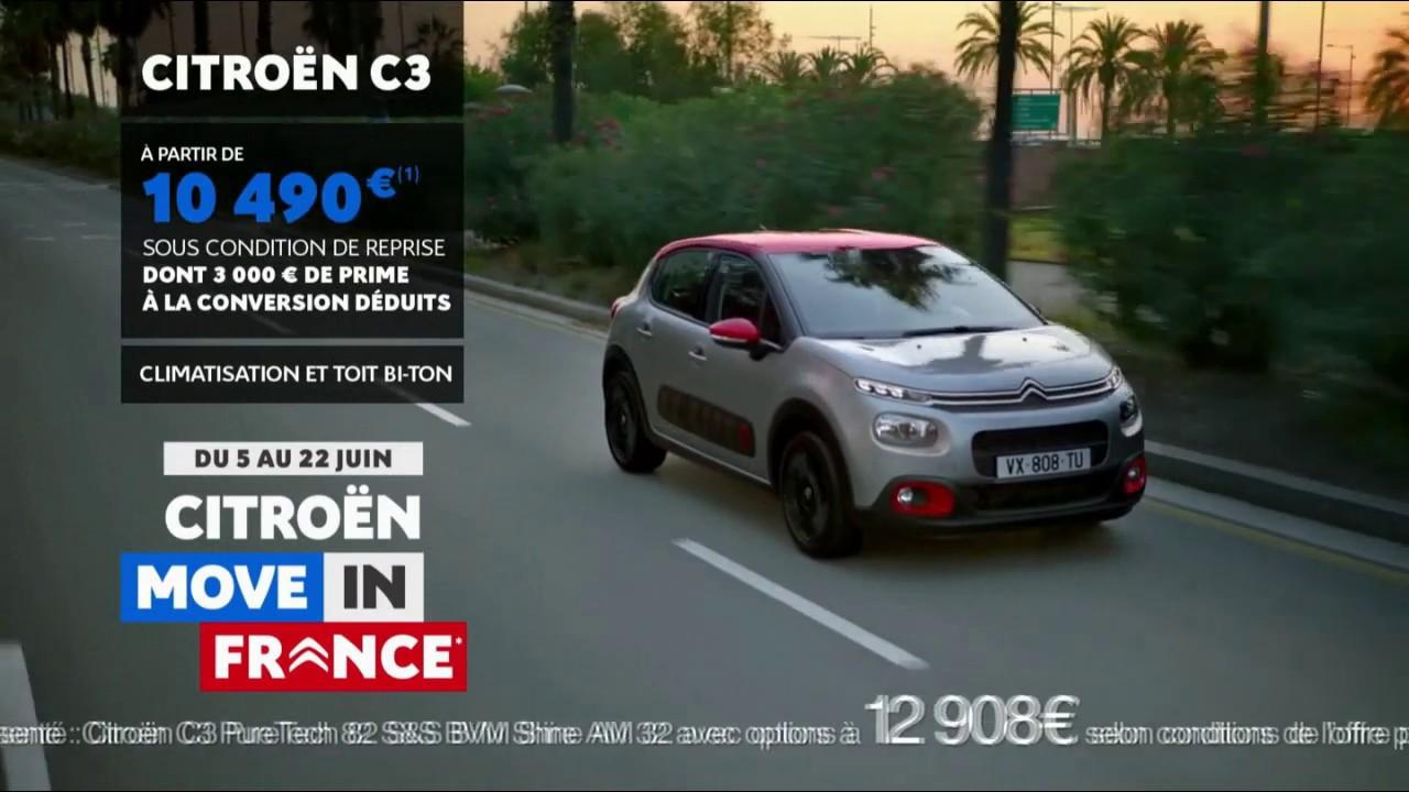 """Musique de la pub Citroën C3 – Move in France """"partez enfin pour de vrai""""  2021"""