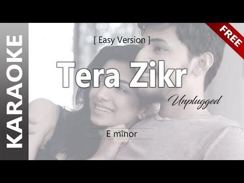 tera-zikr-|-tor-kotha---darshan-raval-(unplugged-karaoke)-|-তোর-কথা-|-lower-key-of-em-|-easy-version