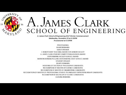 A. James Clark School of Engineering Commencement Ceremony -