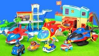 Paw Patrol Spielzeug Bei Den Feuerwehrmann Sam & Playmobil Feuerwehr Und Polizei Stationen