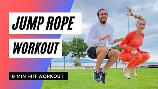 8min Jump Rope Workout |8dakika İP ATLAMA ANTRENMANI | Hızlı Yağ Yakan Egzersiz | FITINSANE