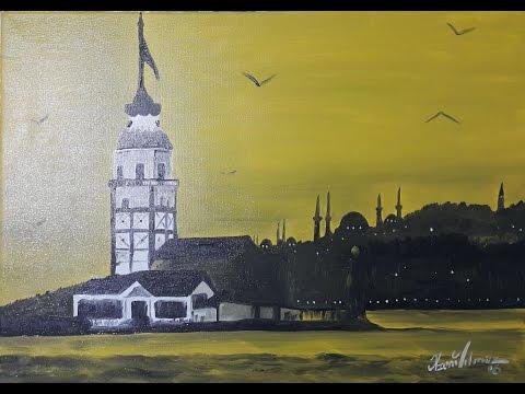 oil painting of landscape painting- Yağlı Boya Manzara Resim Çalışması