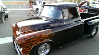 55 Chevy pro street pickup with a nasty lil cam.