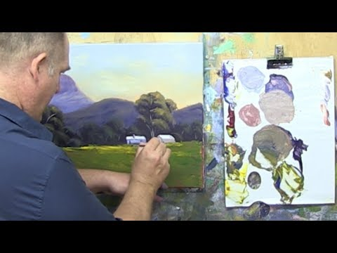 "Learn To Paint TV E38 ""Mount Nindery Foothills"" Acrylic Painting Tutorial"