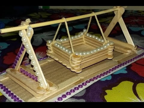 Making a toy Baby Swing with Popsicle Sticks(13)