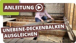 Altbau Holzboden Unebene Holzdielen & Deckenbalken ausgleichen