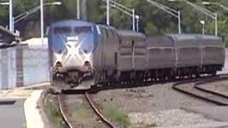CSX, MBTA and Amtrak Trains at Worcester, MA