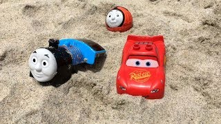 Thomas and Friends Toy Trains Percy James Disney Cars Lightning McQueen Egg Surprise