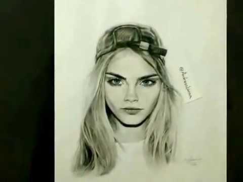 Dibujo de Cara Delevigne fotos  YouTube