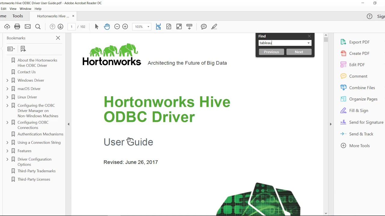 Connect Tableau to Hortonworks Hive (Details)
