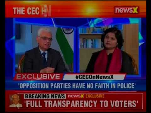Chief Election Commissioners of India, Om Prakash Rawat in an exclusive conversation with NewsX