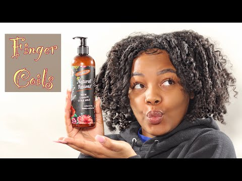 Finger Coils on Natural Hair Using Palmers Natural Fusions! First Impressions!