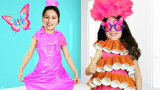 Alice makes a new Dress for Birthday - Cool DIY Ideas for girls