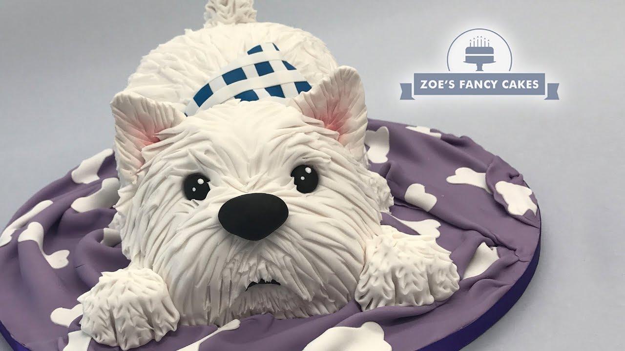 Westie Dog Cake Tutorial West Highland Terrier Great Birthday Idea