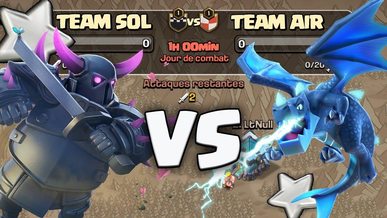 TROUPES SOL VS TROUPES AIR ! Clash of clans