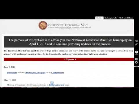 Northwest Territorial Mint Bankrupt!