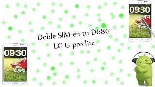 convierte tu G Pro lite(d680) En Dual Sim(d685) :D