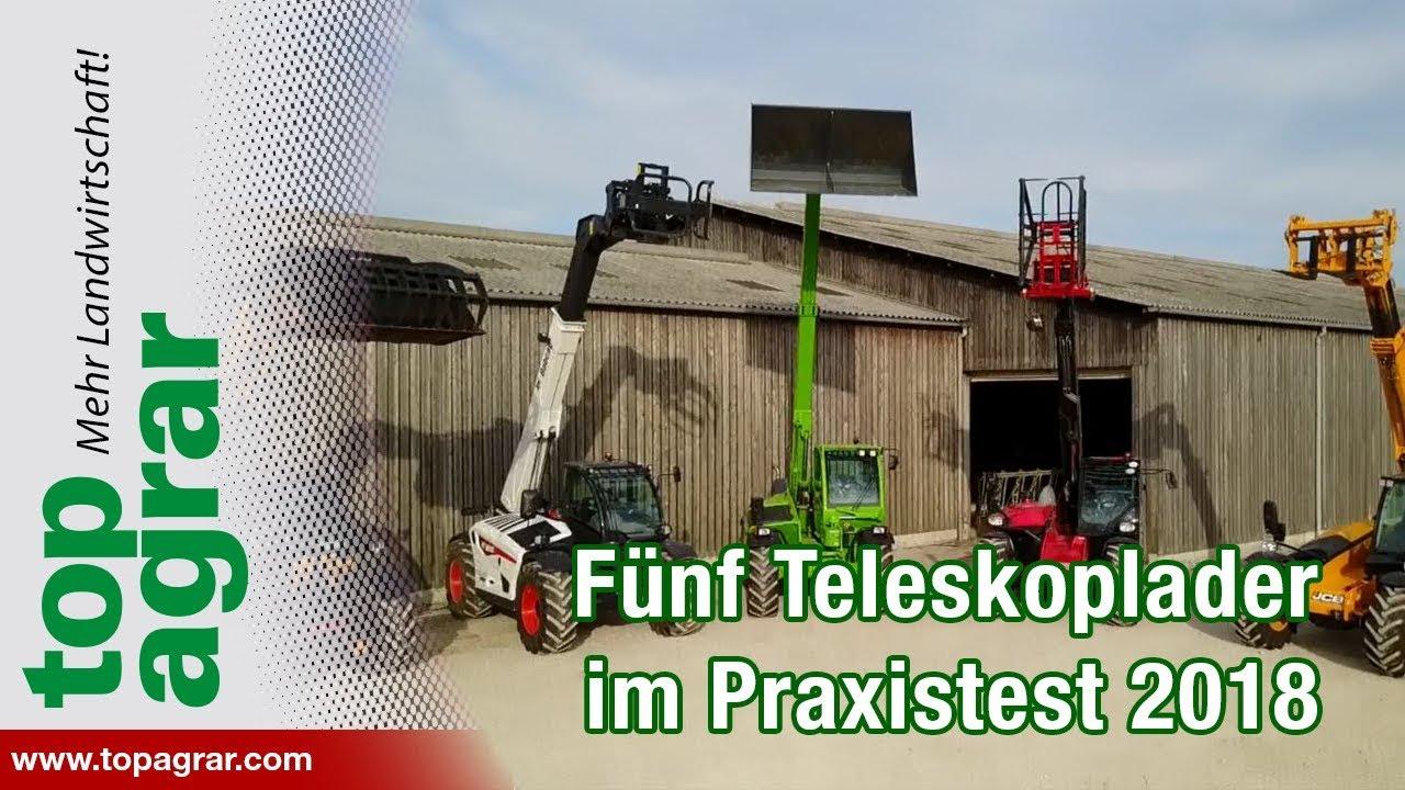 Youtube Video: Fünf Teleskoplader im top agrar-Praxistest: Dieci, Merlo, Manito, JCB, Bobcat