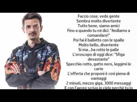 Fabio Rovazzi - Tutto molto interessante con TESTO / LYRICS