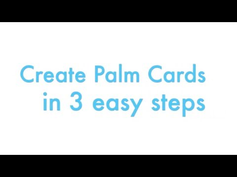 Palm Card Template Word