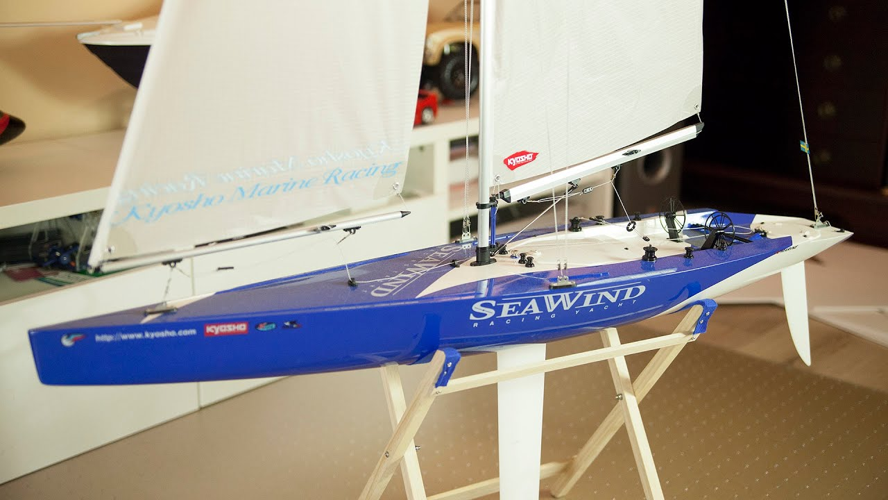 kyosho seawind 1 meter racing class sailboat presentation and sailing demo  [ 1280 x 720 Pixel ]