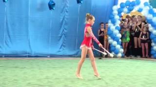 Художественная гимнастика 21 февраля 2013 Новосибирск Садовая Елизавета Булавы