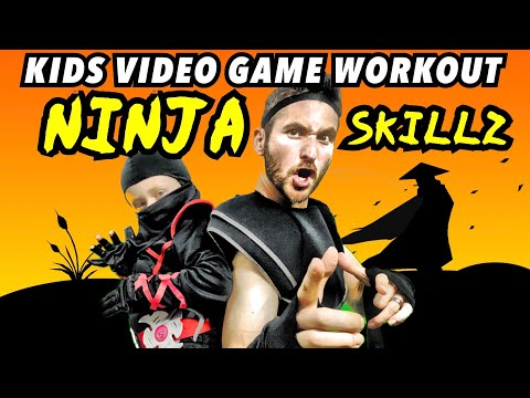 Kids Workout! NINJA SKILLZ! Real-Life VIDEO GAME! Kids Workout Videos, DANCE, FITNESS, & TOY OPEN!