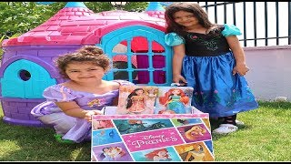 Ormanda Gizemli bir Kutu bulduk - Disney Princess with pretend play real Princess Doll thumbnail