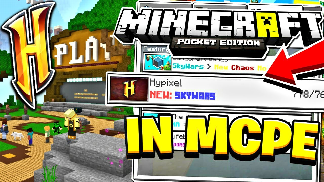 NEW HYPIXEL IN MCPE 2020 (1 16 ) Minecraft PE (Pocket Edition