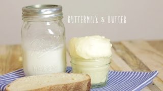 Homemade Cultured Butter & Buttermilk