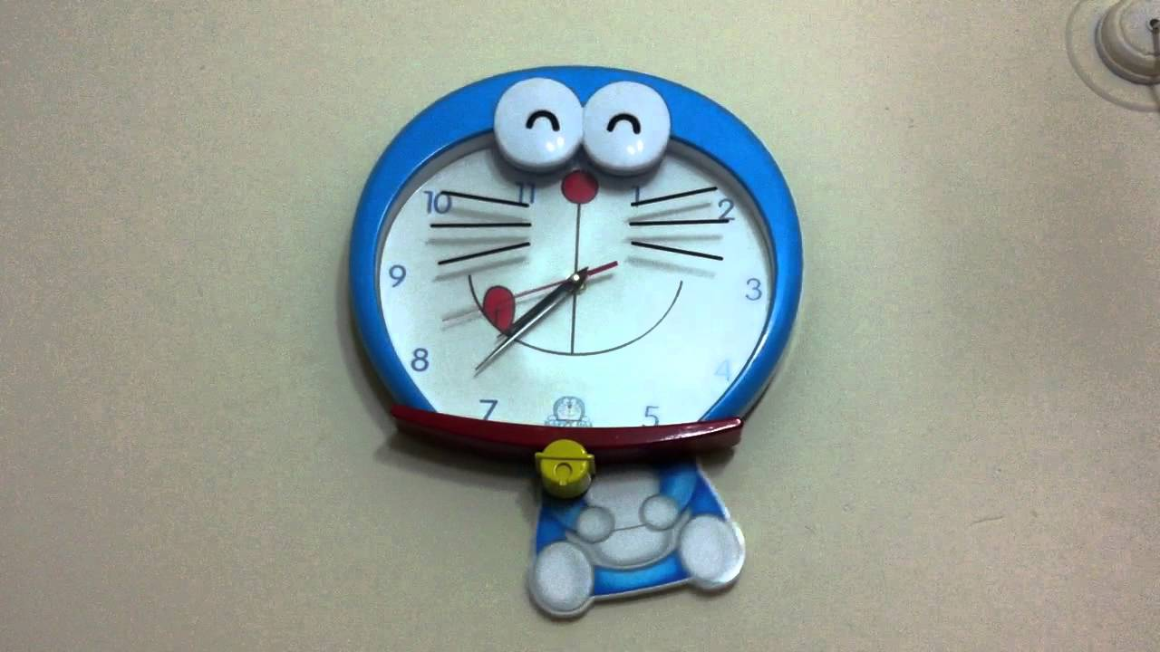 Toy room new doraemon toy clock for kids room for Best out of waste working models