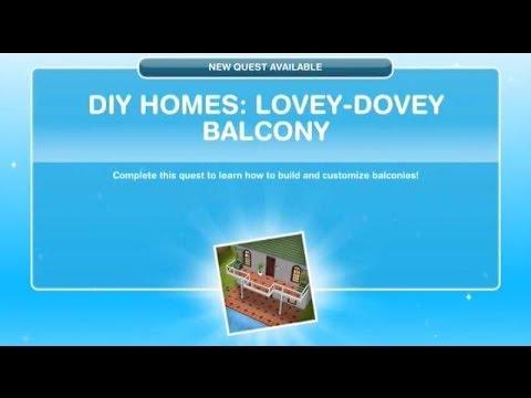 [The Sims Freeplay] – DIY Homes: Lovey-Dovey Balcony Görevi