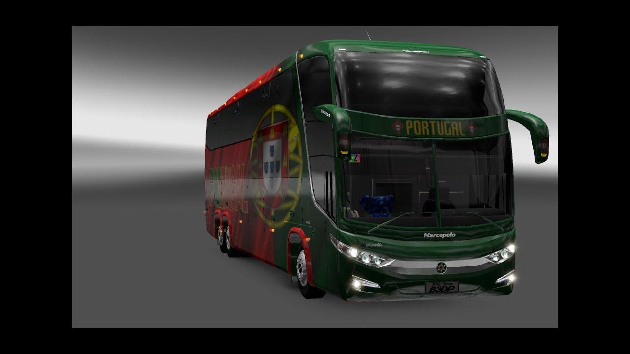 mods euro truck simulator 2 mapa portugal e espanha Euro Truck Simulator 2   Portugal Bus Macropolo G7 1600 LD   YouTube mods euro truck simulator 2 mapa portugal e espanha