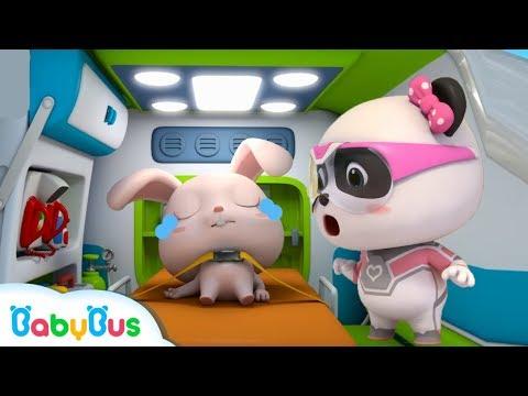 토끼 다쳤어요|몬스터차 구조대 출동!|베이비버스 인기동화 동요모음|BabyBus
