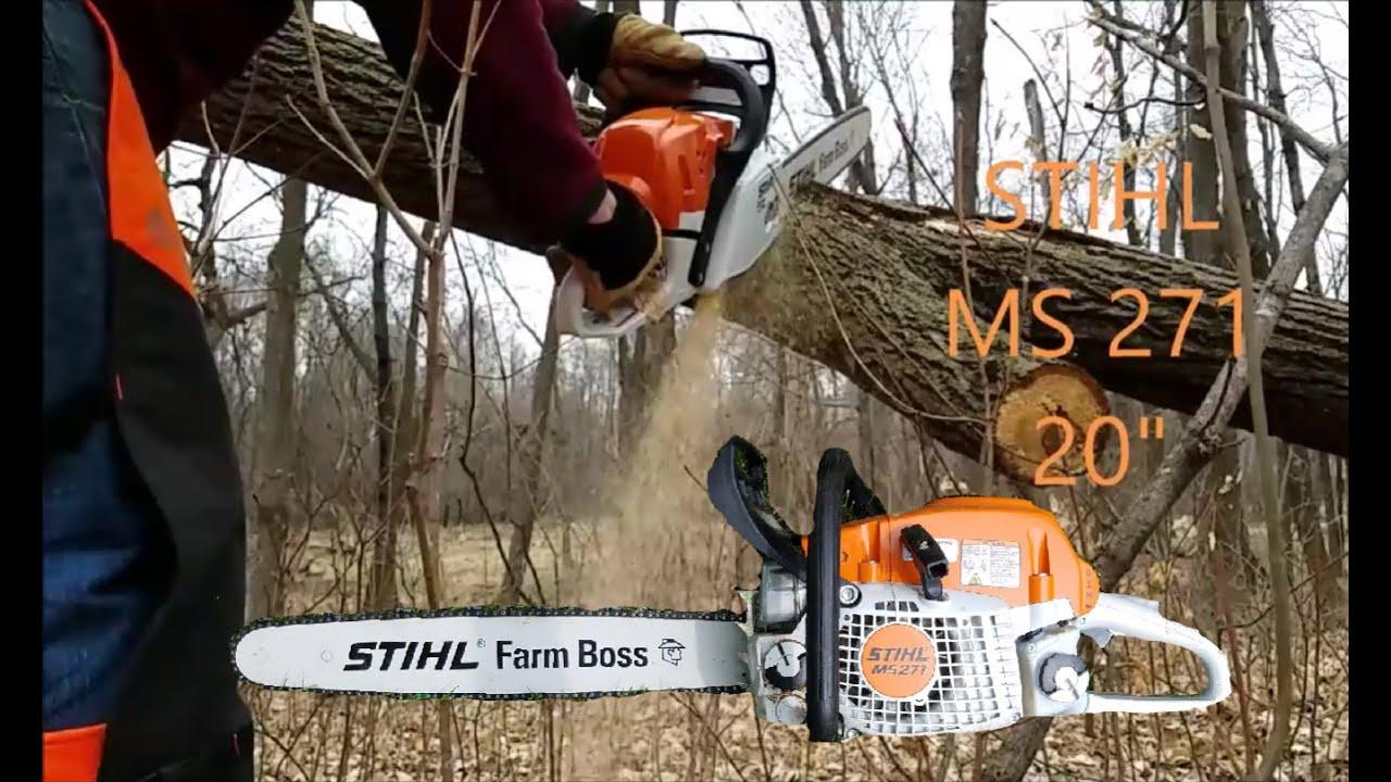 Stihl Ms 271 Farm Boss Brand New First Time Cutting Youtube